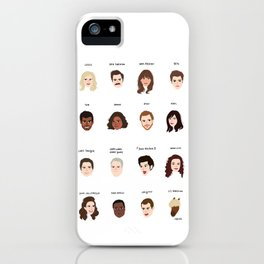 Cutie Pies of Pawnee iPhone Case