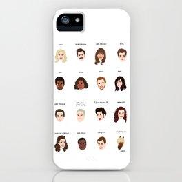 Cutie Pies of Pawnee iPhone Case