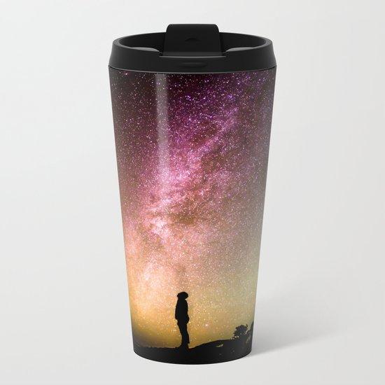Stars teach me how to shine Metal Travel Mug