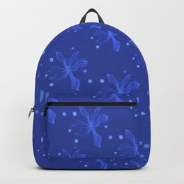 blue Lily night with pearl Backpack
