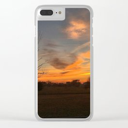 Fall Skies in South Jersey Clear iPhone Case