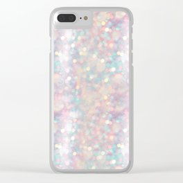 Glitter shiny background Clear iPhone Case