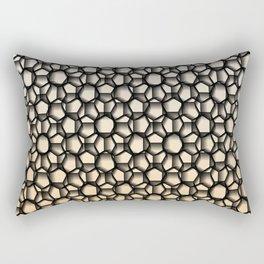 Black Lace Peachy Color Rectangular Pillow