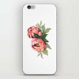Waercolor illustration peony flower painting iPhone Skin