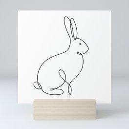 Abstract Rabbit one line drawing. Fine art. Minimalistic modern room decor. Mini Art Print