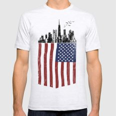 America city Ash Grey LARGE Mens Fitted Tee