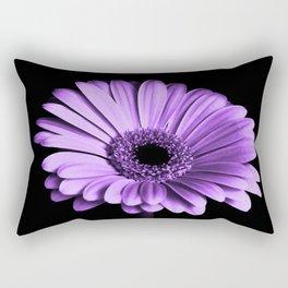 Purple Chrysanthemum Big Flower Flowers Floral Violet Rectangular Pillow