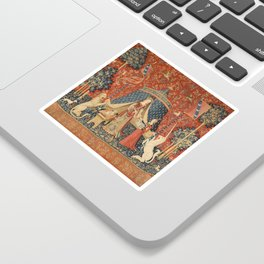 The Lady And The Unicorn Sticker
