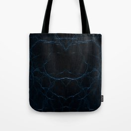 Dark blue leather texture abstract Tote Bag