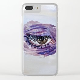 Blinking Sky 2 Clear iPhone Case