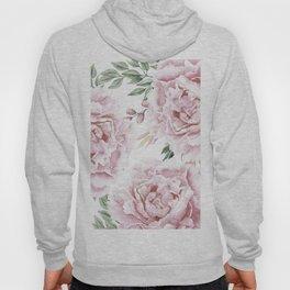 Girly Pastel Pink Roses Garden Hoody