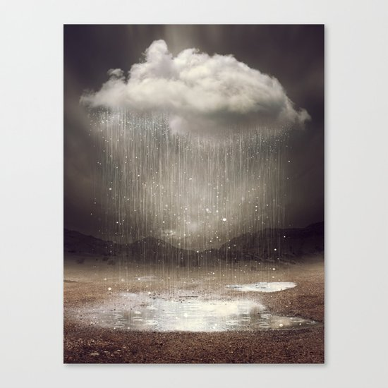 It's Okay. Even the Sky Cries Sometimes. Canvas Print