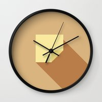 death note Wall Clocks featuring Note by sandor