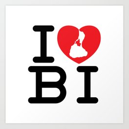 I Heart Block Island Art Print