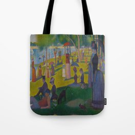 A Sunday Afternoon on the Island of La Grande Jatte Painting by Georges Seurat Pointillism Tote Bag