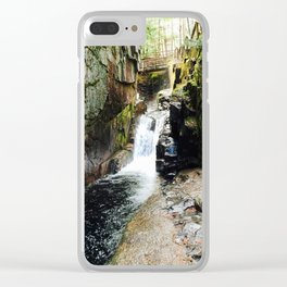 Waterfall Under a Bridge Clear iPhone Case