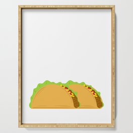 """Taco Tuesday"" Perfect Gift For Any Tacos Lovers T-shirt Design Vegetables Meat Nachos Wheat Serving Tray"
