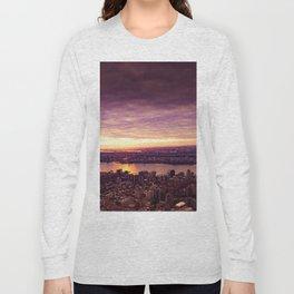 purple sunset New York Long Sleeve T-shirt