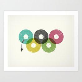 Olympic Records Art Print