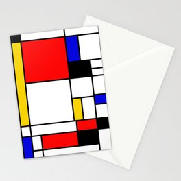 Bauhouse Composition Mondrian Style Stationery Cards