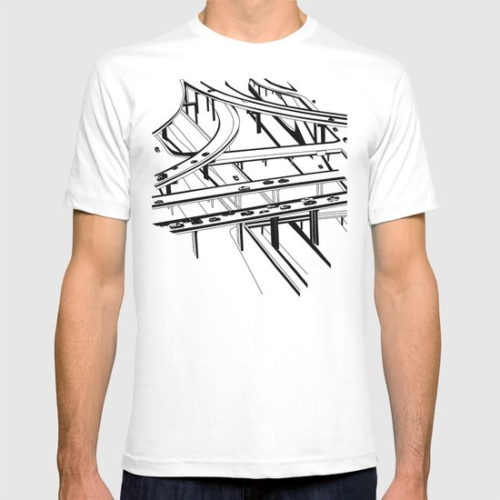 Los Angeles Black and White T-shirt