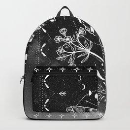 Magical Moth Black Backpack
