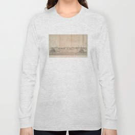 Vintage Pictorial View of Jersey City NJ (1866) Long Sleeve T-shirt