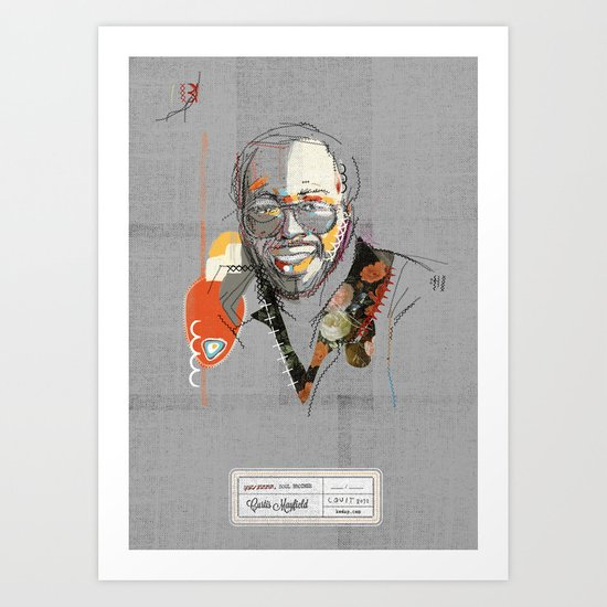 Curtis mayfield Art Print