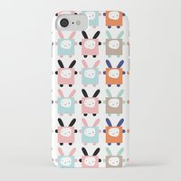 bunnies iPhone & iPod Cases featuring bunnies by PETITE PATATE