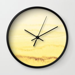 WITHIN THE TIDES - SUNNY YELLOW Wall Clock
