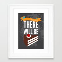 glados Framed Art Prints featuring ...and then, there will be cake. by Created by Kristin