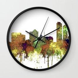 Milwaukee, Wisconson Skyline SG - Safari Buff Wall Clock