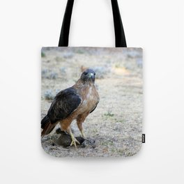 Red Tailed Hawk Catch Tote Bag