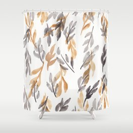 180726 Abstract Leaves Botanical 10 |Botanical Illustrations Shower Curtain