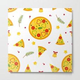 Christma Pizza Metal Print