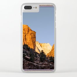 WINTER LIGHT ON ZION Clear iPhone Case