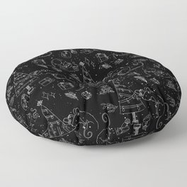From mice and christmas - Cute X-Mas Pattern - Wild Animals - Mix & Match with Simplicity of Life Floor Pillow