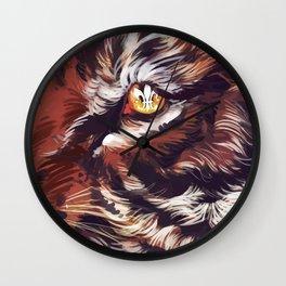 Tiger Fleur de Lis Wall Clock