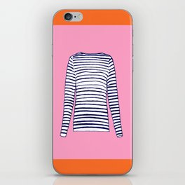 FRENCH STRIPED SHIRT iPhone Skin