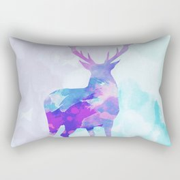 Abstract Deer II Rectangular Pillow