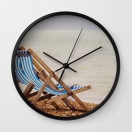 Seaside Deck Chairs Wall Clock