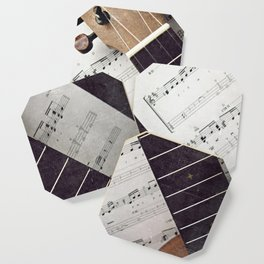 happy strings {ukulele Coaster