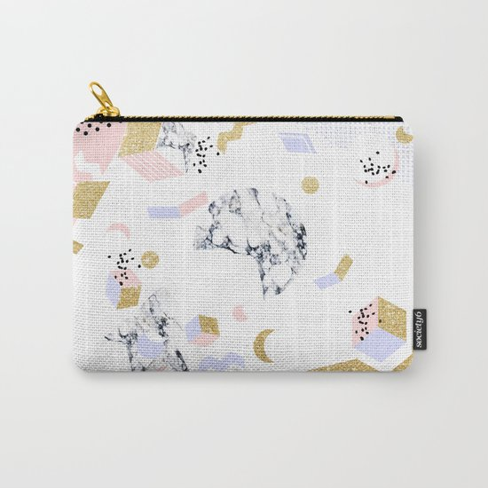 Marble Moon Abstraction #society6 #decor #buyart Carry-All Pouch