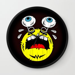 FREAKIN' CRYING EMOTICON! Wall Clock