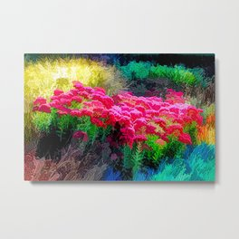 Super Vibrant Floral Dream Metal Print