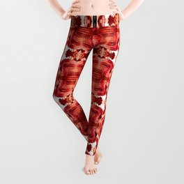 Red soldiers - pattern no 118 Leggings