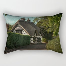 A Berkshire Half Timbered Cottage Rectangular Pillow