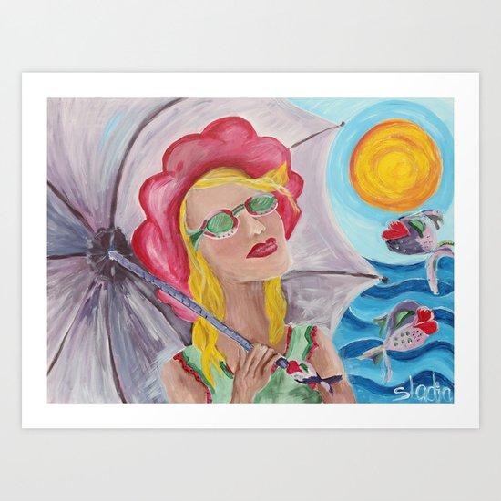 Let a sun shine Art Print