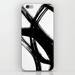 Abstract Wall art, Abstract Print, Black White Abstract Print, Black White Art, Minimalist Print, Ab iPhone Skin