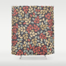 Elegant endless pattern with autumn leaves Shower Curtain
